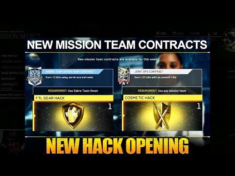New Contracts - New Quartermaster Hacks Opening - FTL Gear Hack + Cosmetic Hack - Infinite Warfare