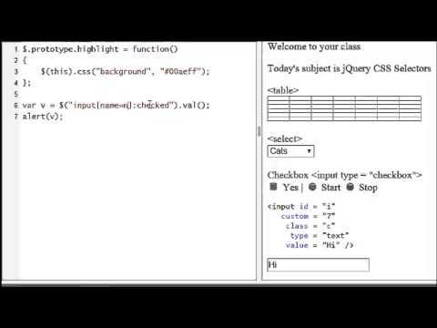 JavaScript Tutorial 6 - Selecting HTML Elements | jQuery