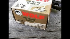 223 Remington, 62gr FMJ, Wolf Military Classic, Velocity Test
