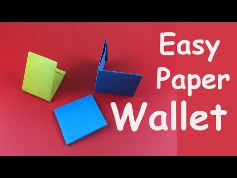 How to Make a Paper Wallet | Easy Origami Wallet Tutorial
