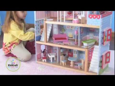 kidkraft chelsea dollhouse 65054 wooden doll cottage youtube rh youtube com chelsea doll cottage with furniture chelsea doll cottage play set