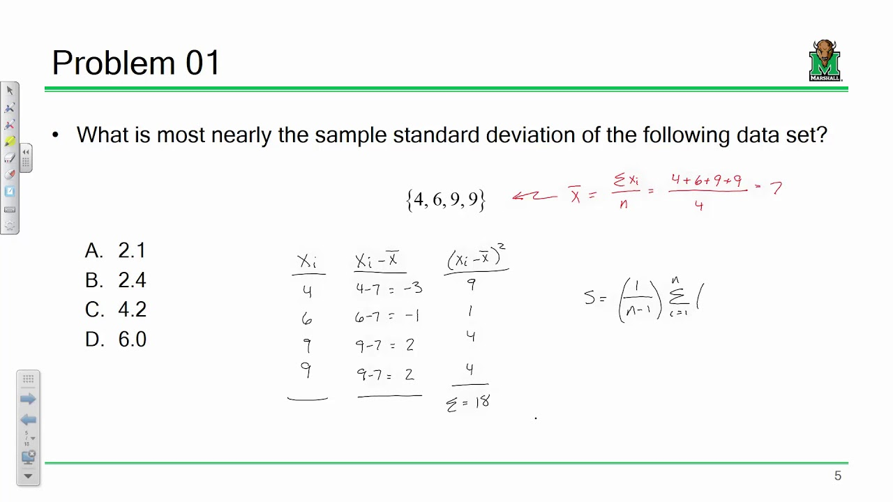 FE Exam Review: Probability/Statistics, Computational Tools (2018 09 05)