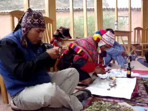 Don Sebastian and Puma Quispe - Despacho ceremony- Pisac, Peru