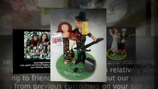 Guitar Player's Wedding Cake Topper | wedding cake toppers