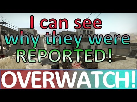 I can see why they were REPORTED! CS:GO OVERWATCH!
