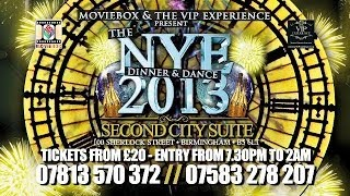 THE NYE DINNER & DANCE 2013 - ADVERT