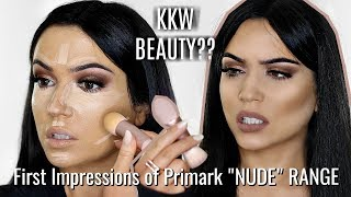 KKW BEAUTY DUPES?? First Impressions of PRIMARK 'NUDE' Collection