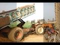 Best Tractor Stunt ,tractor Reversing Loaded Trolly In Punjab Pakistan video