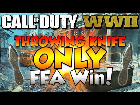 """Call Of Duty WW2 - """"THROWING KNIFE ONLY FREE FOR ALL WIN!!"""""""