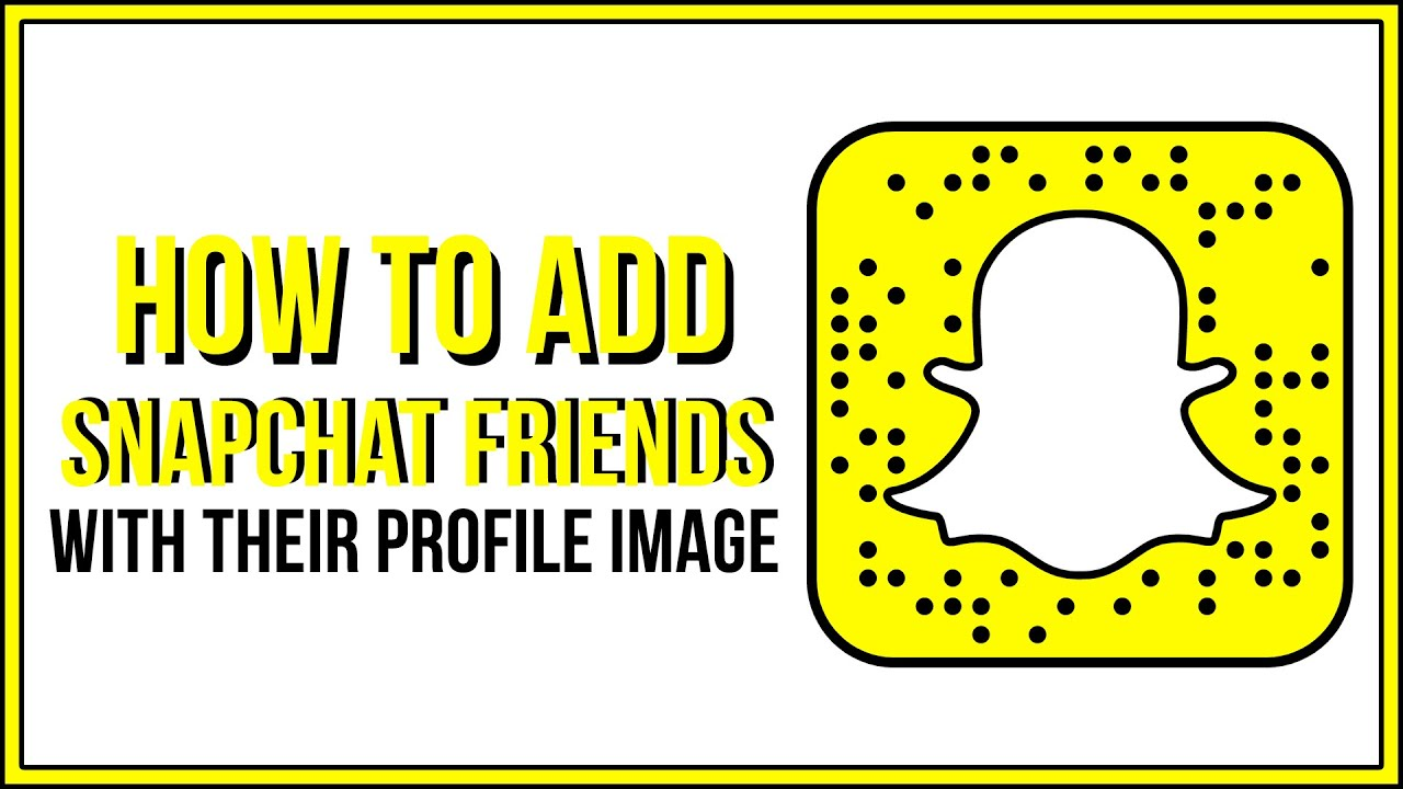 How To Add A Snapchat Friend By Their Snapchat Profile Image