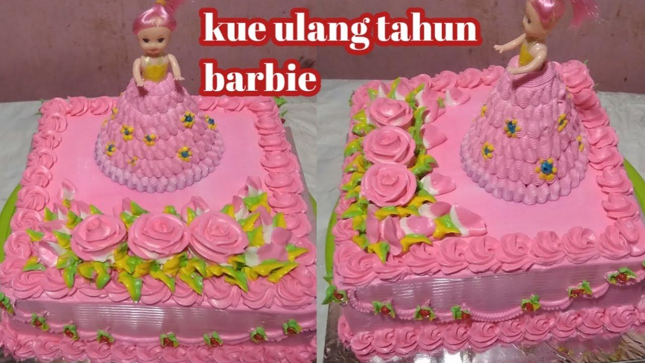 Kue Ulang Tahun Motif Bunga Mawar Youtube