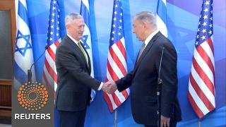 U.S. Defense Secretary Mattis meets Israeli Prime MInister Netanyahu