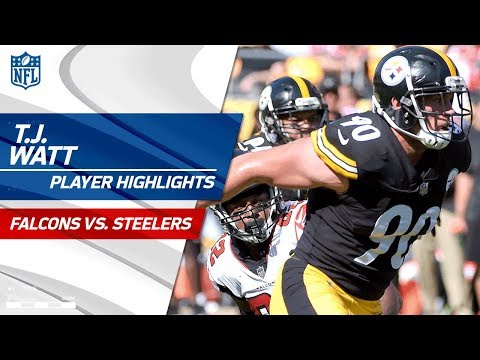 T.J. Watt's Best Plays Against Atlanta | Falcons vs. Steelers | Preseason Wk 2 Player Highlights
