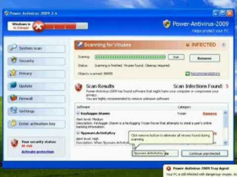 How Power Antivirus 2009 Infects Your Computer