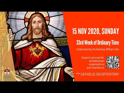 Catholic Sunday Mass Today Live Online - Sunday, 33rd Week of Ordinary Time 2020