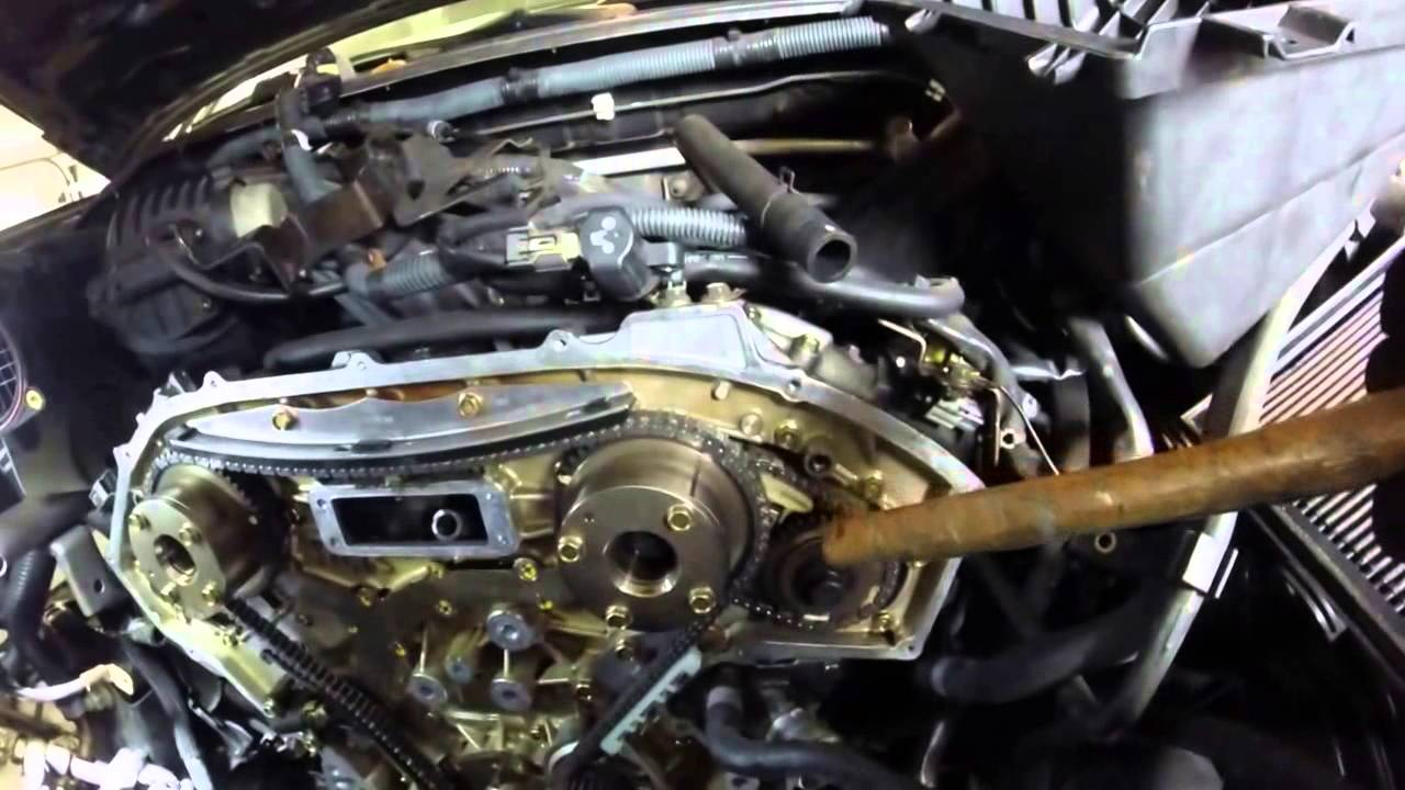 Nissan Xterra VQ40DE Engine Timing Chain Replacement (Image Stabilized)  YouTube