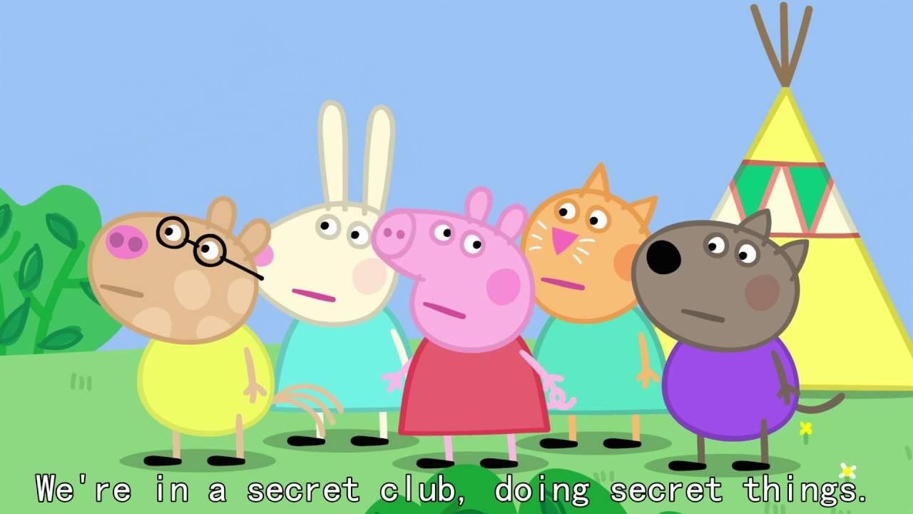Peppa Pig - The Secret Club (38 episode / 3 season) [HD]