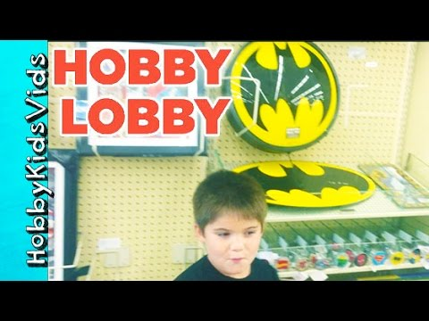 HobbyKids Visit Hobby Lobby! Craft Store Toys, Art Fun Shopping HobbyKidsVids