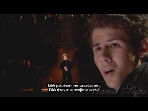 Nick Jonas Les Misrables Empty Chairs At Empty Tables Greek