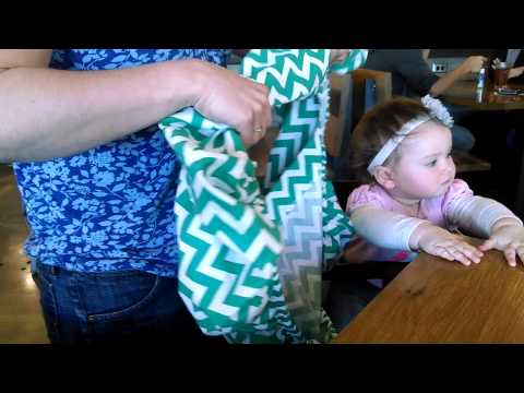 Sprout Shell in Real Life: High Chair Cover