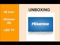 Unboxing Hisense LED50D36 - 50 Inch HD LED Televison - Product Review TV