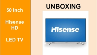 Unboxing Hisense LED50D36 - 50 Inch HD LED Televison - Product Review TV