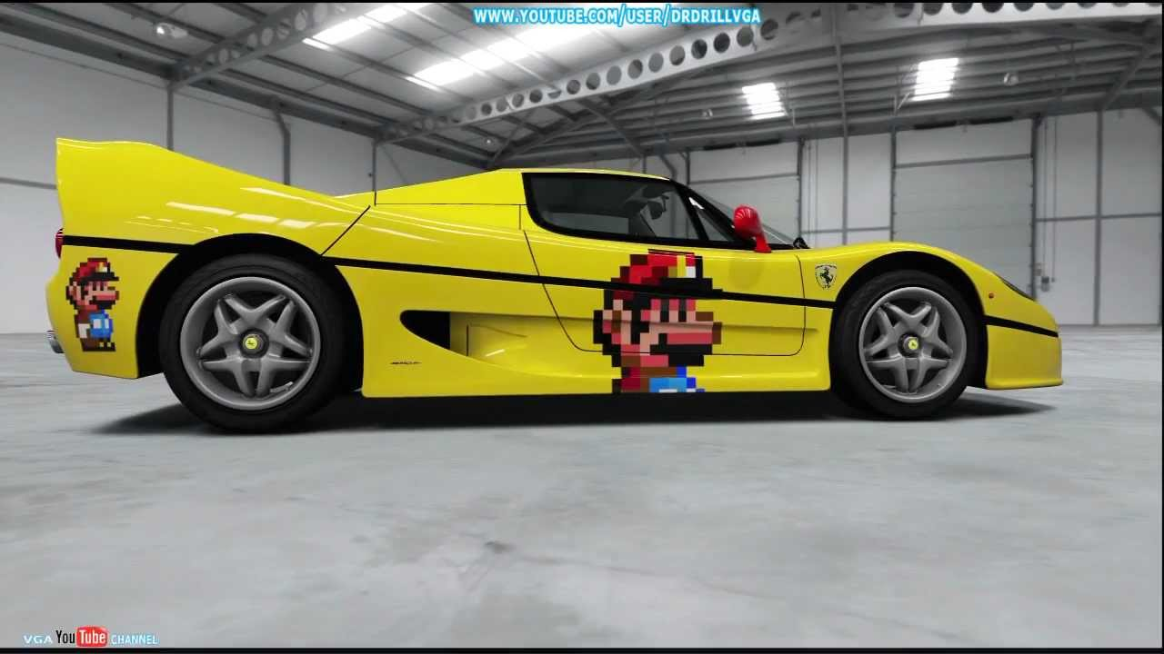 Forza 4 Top Gear Test Track 1995 Ferrari F50 With Mario