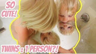 IDENTICAL TWIN BABIES THINK THEY ARE SAME PERSON?! (SO CUTE!)
