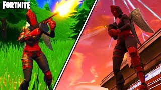 what happens when you UNLOCK the NEW RED KNIGHT SKIN in FORTNITE - UNLOCKING NEW RED KNIGHT SKIN!