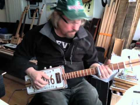 License Plate Guitar with handwound pickup