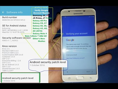 Bypass Google Account Samsung Galaxy J7 Prime, J5 Prime And All Other