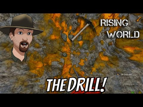 Mining Drill/ Sulfur And Gold / Repeater Rifle- Rising World Survival #13