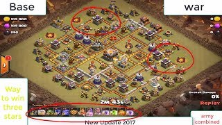 clash of clans | th 11 base war | How to get a 3 star victory :)