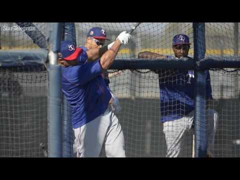 Former All-Star Carlos Gomez takes batting practice