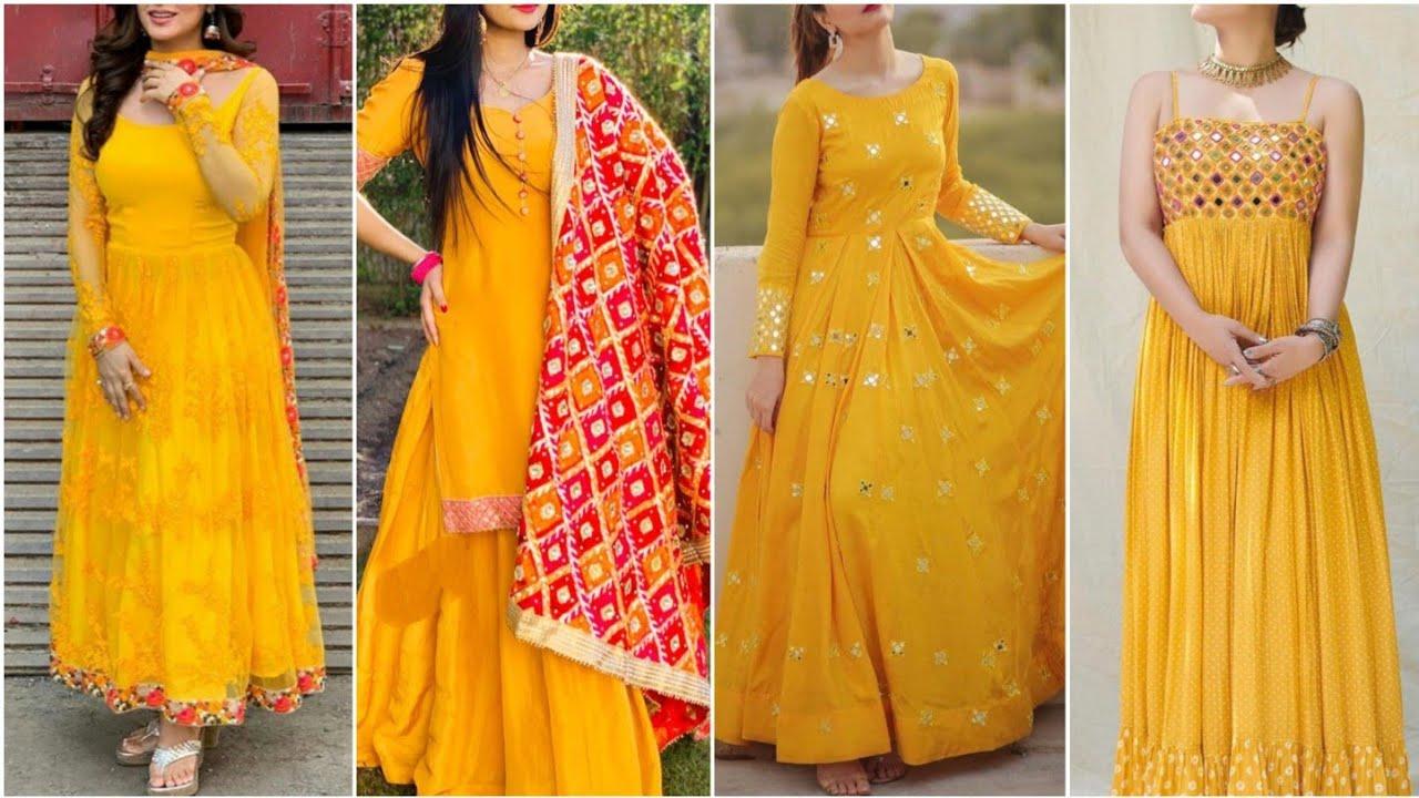 yellow dress for haldi