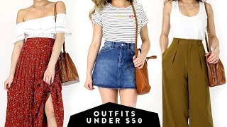 AFFORDABLE OUTFITS UNDER $50 Fashion Lookbook | Summer Fall Business Casual to Casual | Miss Louie