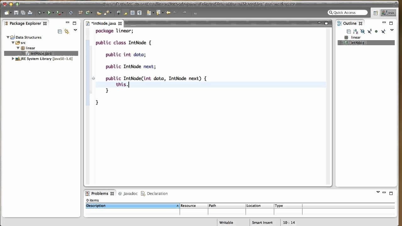 How To Build A Single Node Linked List In Java Youtube