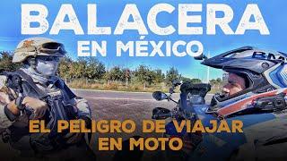 Me encuentro con una BALACERA (Tiroteo) en MÉXICO, y motociclistas MEXICANOS me protegen. VLOG 161
