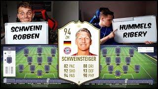 Heftiges SCHWEINSTEIGER Bayern Abschiedsspiel Squad Builder Battle! - Fifa 18 19 Ultimate Team