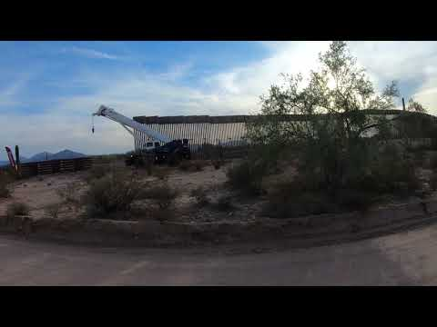 U.S.-Mexico Border Wall, Barrier Replacement Project on Organ Pipe Cactus National Monument GX057951