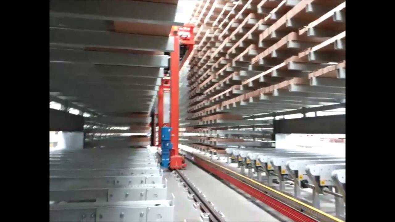 Automated Warehouse With Stacker Crane Youtube