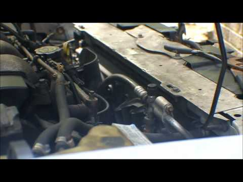 How to change a 2000 - 2003 Malibu Radiator Part 1 Removal