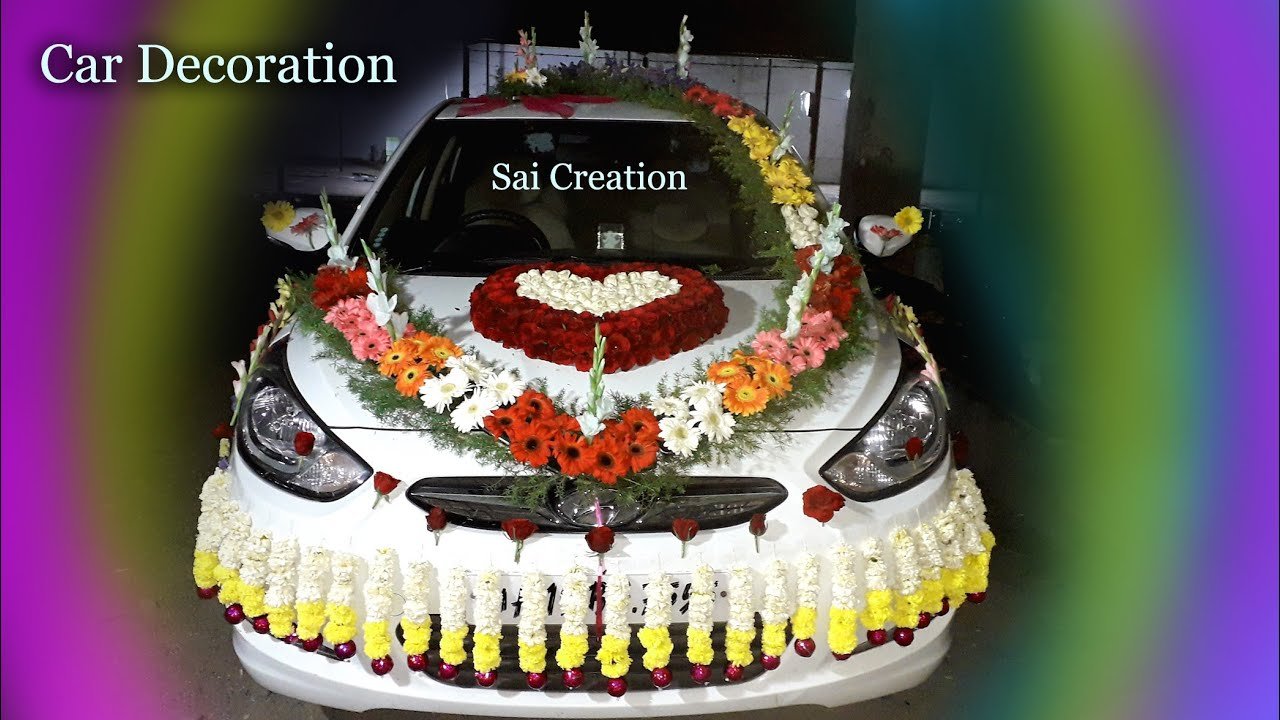 Indian Wedding Car Decoration