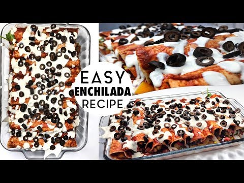 ENCHILADAS w/ RED SAUCE + WHITE SAUCE | RECIPE | vegan + low fat