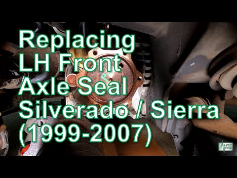 How To Replace A Left Front Axle Shaft Seal (Chevy / GMC)