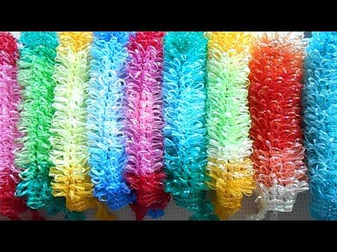 Видео: Как сделать красивый переход цвета при вязании мочалок