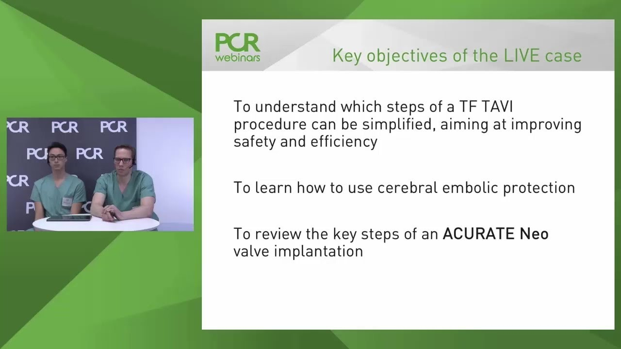 Watch a streamlined and minimalist TAVI procedure with Sentinel™, Cerebral  Embolic Protection