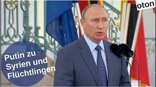 Putin zu Syrien und Flüchtlingen auf deutsch