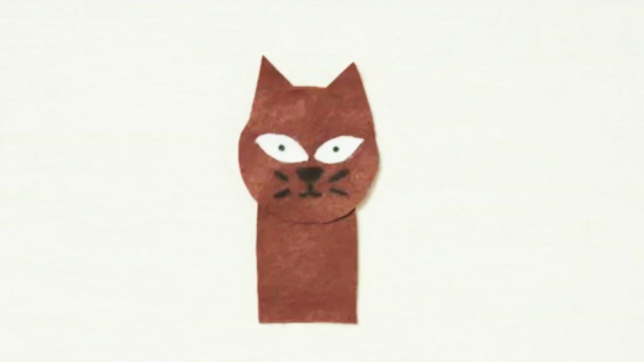 Fabriquer une marionnette chat youtube - Fabriquer une marionnette articulee ...