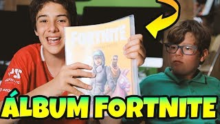 OPENING THE FORTNITE DE PANINI ALBUM 🤩 CROMOS and SOBRES with *EPIC SKINS